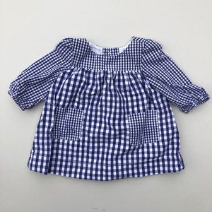 Baby Gap | gingham dress with front pockets